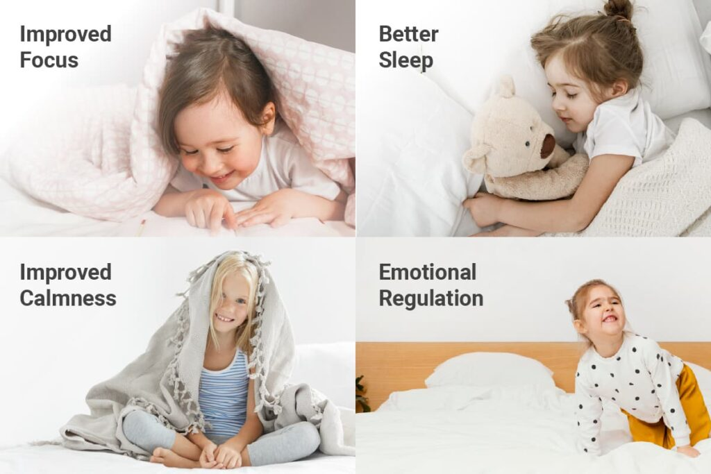 benefits of weighted blankets for kids